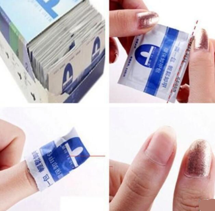 10pcs Soak Off Acrylic Gel Polish Nail Removal Wraps Remover Cleaner ...