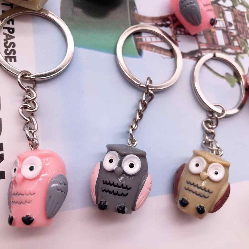 Новинка, креативный мультяшный милый брелок для ключей в форме совы, Дамская Автомобильная сумка, брелок, имитация смолы, брелок для ключей, модный подарок, коллекция украшения жизни