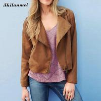 Europe Miracle Tassel Women Jacket Women 2016 New Autumn Winter Fashion Zipper Turn Down Collar Suede