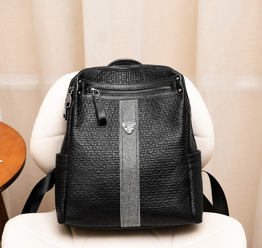Black Backpack Fashion Shoulder Bag 2018 Women Diamond Student Backpack Travel New School Bag Sac A Dos Small Backpack backpack women 2017 newest stylish cool faux suede small backpack female hot selling women bag sac a dos rugzak fast shipping