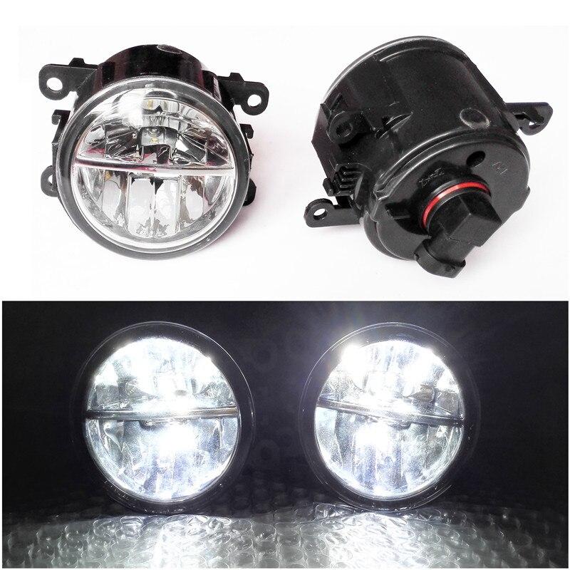 Pour Mitsubishi L200 OUTLANDER 2 PAJERO 4 Grandis 2003-2015 Voiture style 6000 K Blanc 10 W CCC Haute Puissance LED Brouillard Lampes lumières