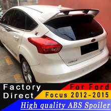 High quality ABS material Big type spoiler For Ford Focus RS 2012 to 2015 rear spoiler primer DIY any color spoiler For Focus
