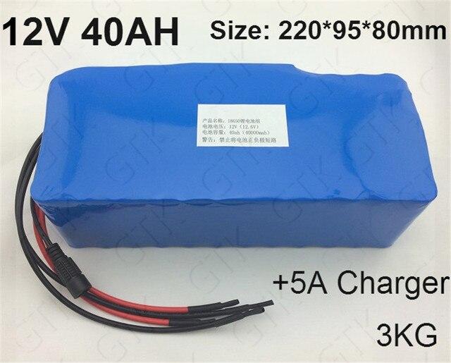 12v lithium ion battery pack 12v 18650 40ah li ion bateria. Black Bedroom Furniture Sets. Home Design Ideas