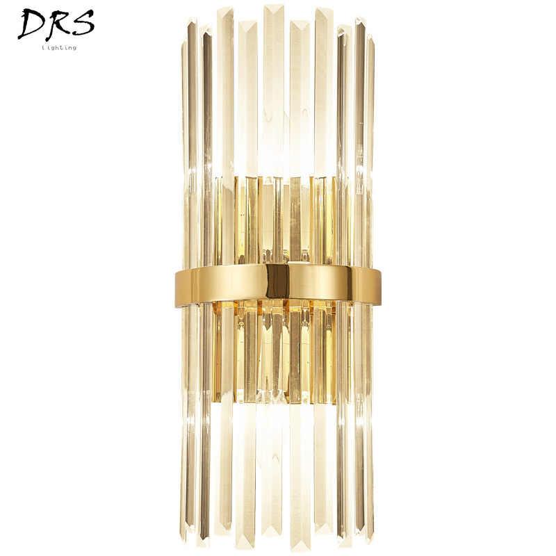 Американский роскошный хрустальный настенный светильник, современный простой прикроватный светильник для гостиной, спальни, домашний настенный светильник, светильник