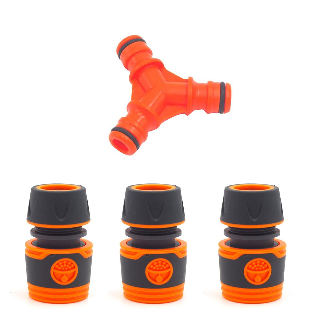 Plastic Y-Shaped 3-Way Lawn Water Pipe <font><b>Connector</b></font> ID 12MM 19MM <font><b>1/2</b></font> <font><b>Quick</b></font> Hose Splitters for Garden irrigation Tools image
