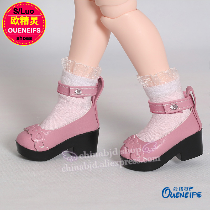 OUENEIFS free shipping leather shoes High Heel Shoes For bjd sd Dolls 1/4 Fashion Shoes Mini Doll Shoes Accessories WX4-19 1 8 bjd sd doll wigs for lati dolls 15cm high temperature wire long curly synthetic hair for dolls accessorries high quality wig