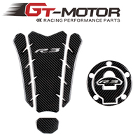 GT Motor 3D ADESIVI MOTO Sticker Tank Pad Gas Cap and Decal Emblem Protection two part combination for YAMAHA YZF R3 R3