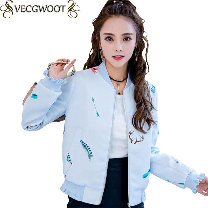390776537 Moda Vestir Mujeres Ear Manga Suelta Tamaño Corta Impresión Chaqueta  Exteriores Prendas Wood Larga De Primavera Mujer otoño Nueva ...