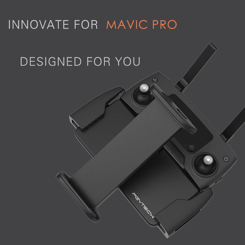 PGY DJI Mavic Pro SPARK MAVIC AIR remote control 7 10 Pad Mobile Phone Holder aluminum Flat Bracket tablte stander Parts in Remote Control from Consumer Electronics