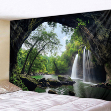 3D Great Falls Print Tapestry Wall Hanging  Decorative Carpet Bed Sheet Bohemian Hippie Home Decor Couch Throw