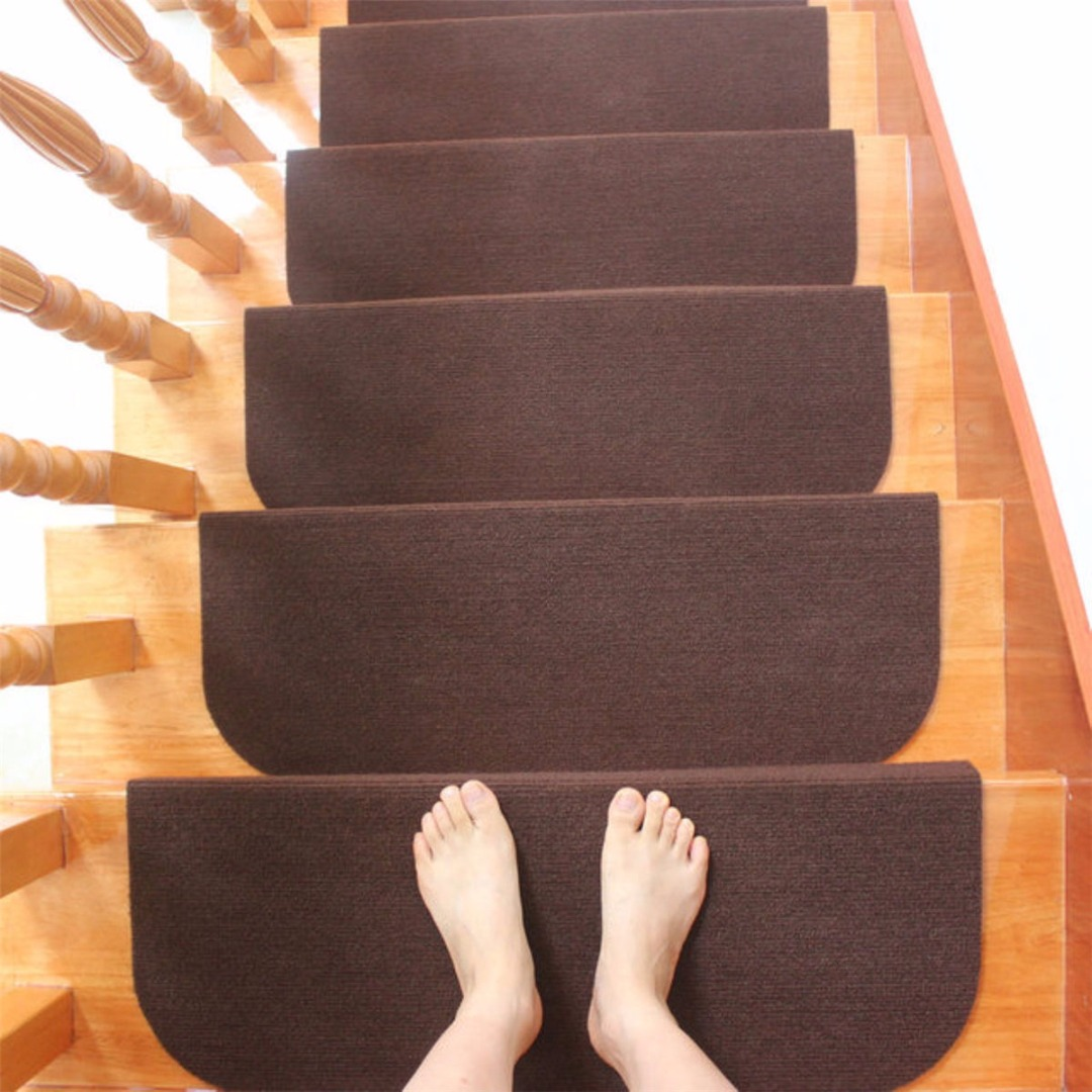 Pack Of 5 Luminous Carpet Stair Treads Mats Glue Free Self Adhesive Pvc Non Slip Floor