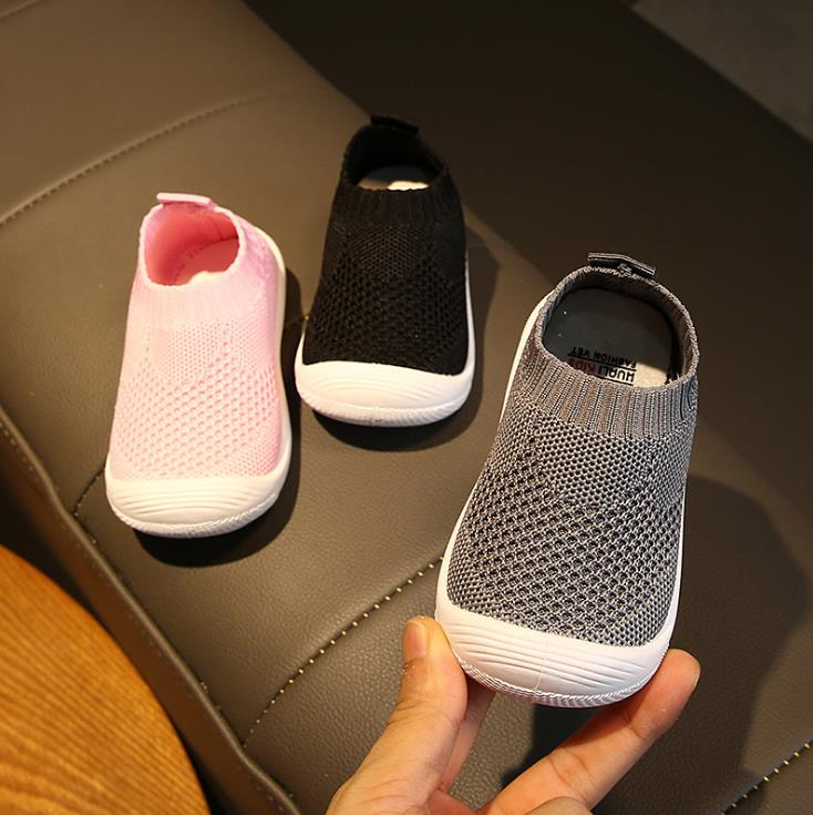 Baby Boy Girl Toddler Shoes Baby Shoes Non-slip  Shoes Sock Floor Shoes Foot Short Socks Pink Black Grey 6size 1902 Tx09