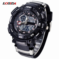 Losida G Style Shock Waterproof Outdoor Sports Watches Men Quartz Watch Clock Digital Military LED Wrist