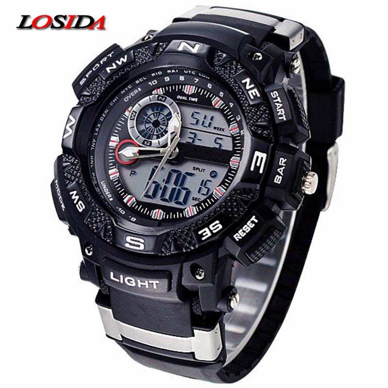 Lower Price with Top Brand Mens Sports Watches G Style Military Waterproof Wristwatches Shock Analog Quartz Digital Watch Men Relogio Masculino Men's Watches