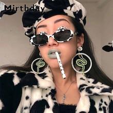 Cow Black Spots Printing Sunglasses Women 2019 Fashion Small Shapes Oval Sun Gla