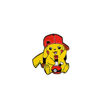 Pikachu fumo bong dello smalto pin simpatico cartone animato spilla Pokemon pop-cultura badge anime dei monili accessorio creativo(China)