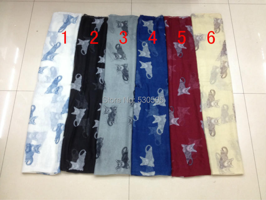 New cat Print Scarf Wrap Shawl Scarfs Ladies Gift Accessories 100pcs/lot Free express Shipping