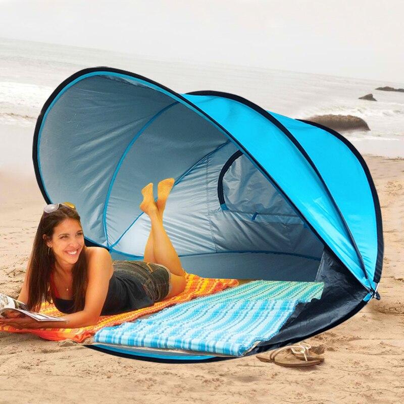2-3 pessoas cuick abertura e abertura rápida pára-sol protetor solar barraca de praia ao ar livre automática barraca de acampamento