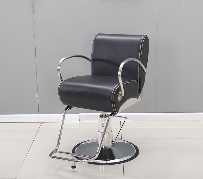 Friseursalon Personalisierte Haar Stuhl Hydraulische Stuhl Edelstahl Handlauf .. Verstellbarer Stuhl
