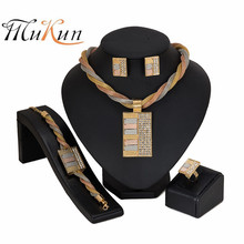 MUKUN Dubai gold color Brand jewelry sets Nigerian wedding woman accessories Big jewelry set fashion African Beads jewelry set mukun nigerian wedding woman accessories jewelry set fashion african bead jewelry set brand dubai big gold color jewelry sets