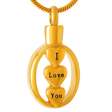 I Love You Urn Necklace