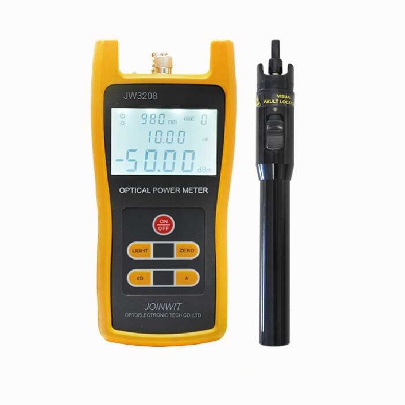 JoinWit JW3208A Portable Optical Power Meter -70~+3dBm OPM and VFL 1mW JW3105A Fiber Optic Laser Pen Tester Visual Fault LocatorJoinWit JW3208A Portable Optical Power Meter -70~+3dBm OPM and VFL 1mW JW3105A Fiber Optic Laser Pen Tester Visual Fault Locator