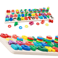 Children Wooden Math Toys Montessori Materials Learn To Count Numbers Matching Digital Shape Early Educational Toys For Children