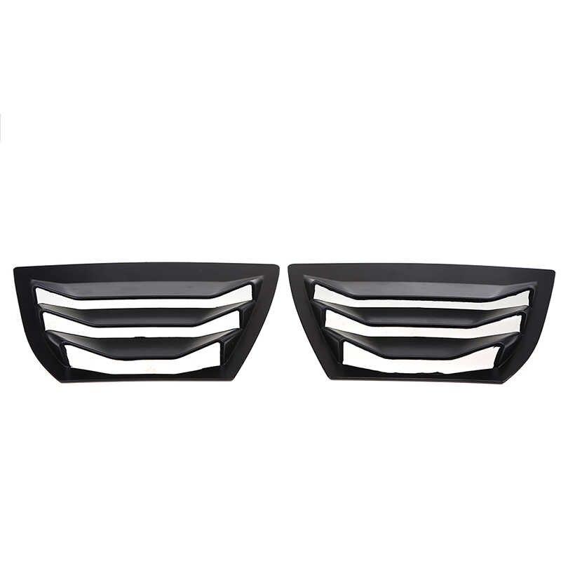 POSSBAY глянцевая черная Левая Правая боковая панель с прорезями на окно колпак воздухозаборника вентиляционное отверстие для Mazda 3/Axela хэтчбек 2014-украшения для подарков вентиляционные отверстия