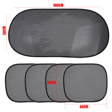 5pcs/set Car Window Sunshade Mesh Auto Sun Visor Curtain Front Rear Side Styling Covers With Suction Cup