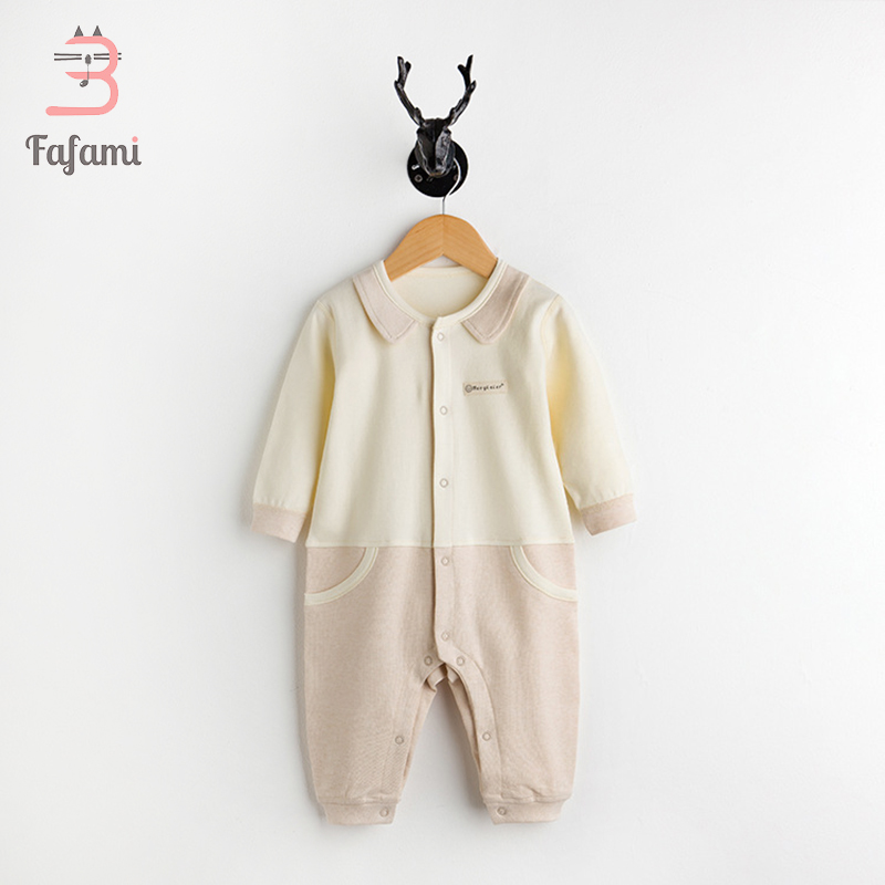 2 pcs/lot Newborn Baby Clothes Organic Cotton Baby Rompers Lucky child baby boy girl clothing jumpsuit safe baby costume romper