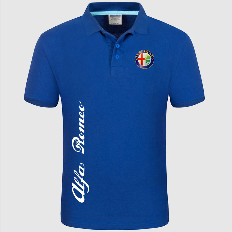 Alfa Romeo logo   Polo   Shirt Men summer Short Sleeve   Polo   Shirt Cotton spring Casual Men's   Polos