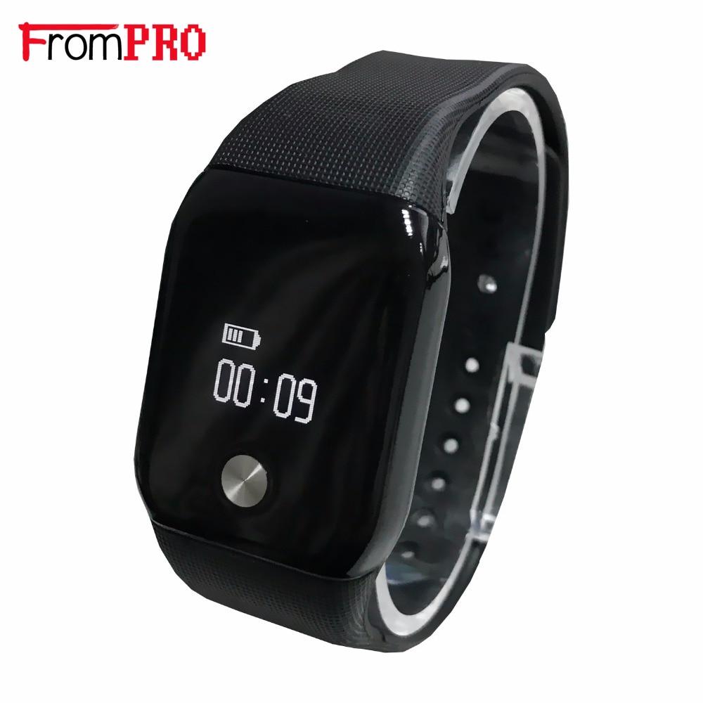 imágenes para A88 + bluetooth smart watch 0.66 ''oled pantalla a prueba de agua salud pulsera inteligente para iphone ios android para samsung sony xiaomi