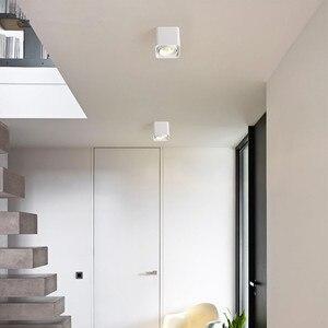 Image 5 - [DBF] carré blanc/noir sans coupe plafonnier monté en Surface haute puissance 10W 12W 20W 24W plafonnier 3000K/4000K/6000K