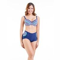 Large Size New Brazilian Bikini 2018 Swimsuit Swimwear Women Sexy Padded Swimming Bathing Suit Beachwear High