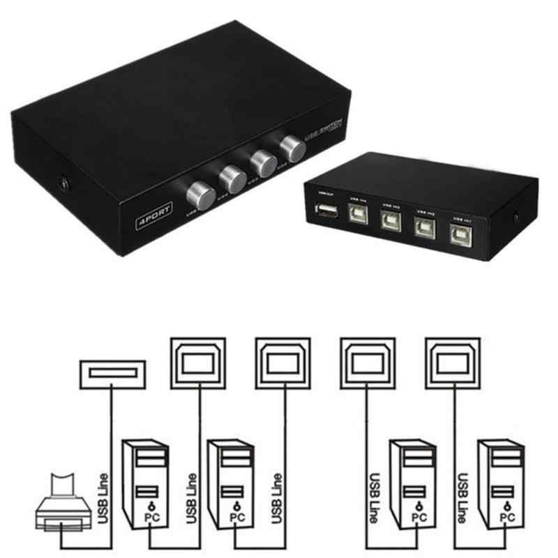 Принтер Запчасти USB 2,0 4 Порты и разъёмы переключатель аксессуар селектор коробка концентратор для ПК компьютер ручной сканер принтер