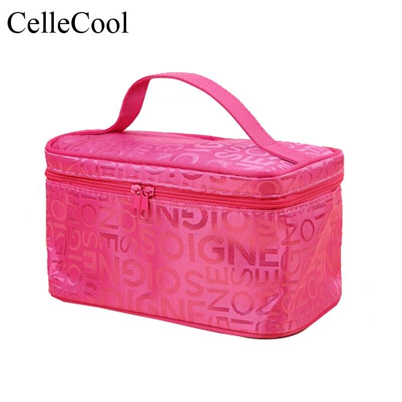 Toiletry Organizer Solid High Capacity Bags Girls Fashion  Makeup Bag Women Square Travel Handbag