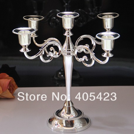 height 27cm home wedding decoration silver gold black centerpiece 5 arm or 3 arms Candleholders candelabra candelabrum stand