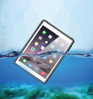 New REDPEPPER IP68 Waterproof Case For iPad 2017/2018 Shockproof Snow Dust proof For iPad 9.7 inch Case Cover Skin Black