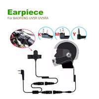 Motorcycle Full Face Helmet Headset Earpiece For Two Way Radio Baofeng Kenwood Puxing