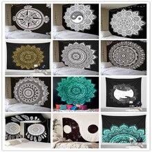 Indian Mandala gobelin ściany wiszące wielofunkcyjny gobelin Boho drukowane narzuty pokrywa Mat koc piknikowy tkaniny