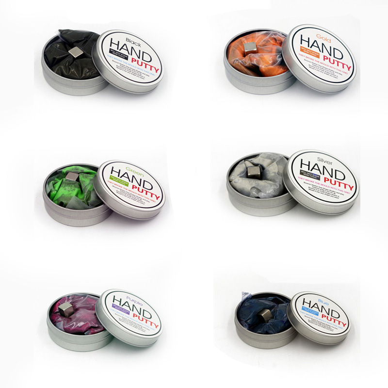 6 Colors Hand Putty Playdough Magnetic Rubber Mud Strong Plasticine Putty Environment Sa ...