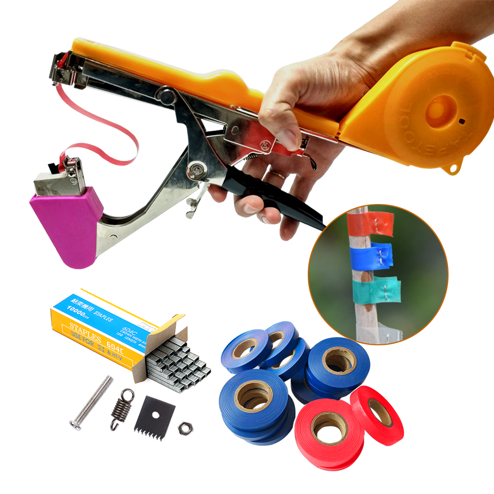 Garden Tools Plant Tying Machine Tapener Tapetool Hand Tying Machine Packing Vegetable Stem With 12 Rolls Tape For Pruning Tools