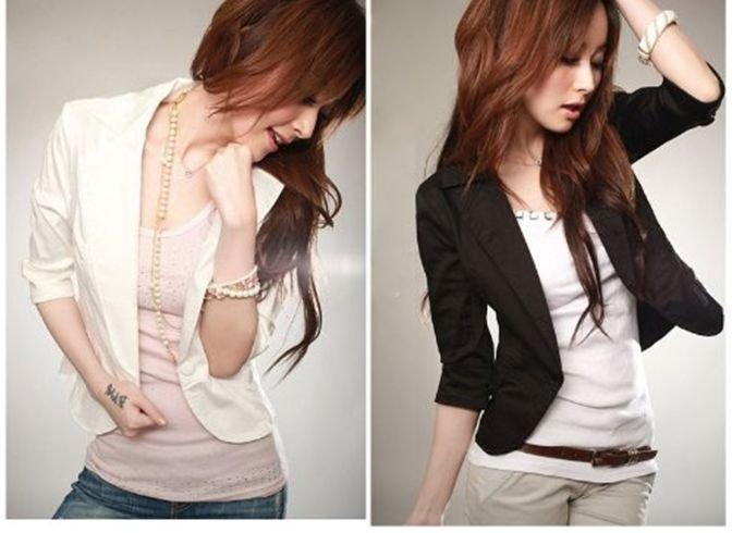 chaquetas de mujer manga tres cuartos