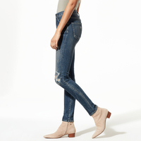 MayBerry Jeans Women Skinny Jeans High Waist Ripped Jeans Indigo