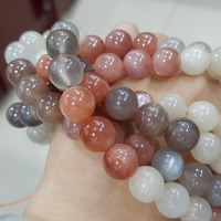 Lii Ji Moonstone SunStone Round shape bead 10mm DIY Jewelry Making Approx 39cm