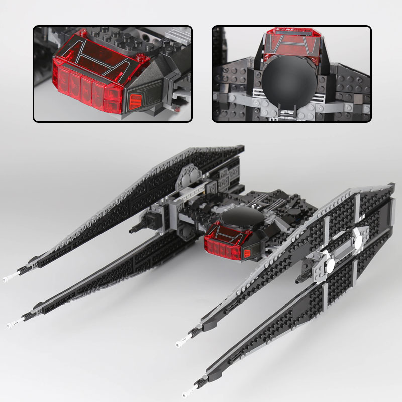 Lepin 05127 Star Plan Series The Tie Model Fighter Set 75179 Building Blocks Bricks Educational Funny legoinglys Toys As Gifts lepin 16007 2141pcs monster fighter the haunted house model set building kits model compatible with 10228 educational toys gifts