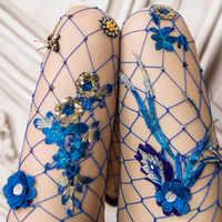 Mode frauen Net Perle Fishnet Bodystockings Muster Strumpfhosen Strumpfhosen Strümpfe Lange Strumpfhosen Strass Strumpfhosen Medias 2018