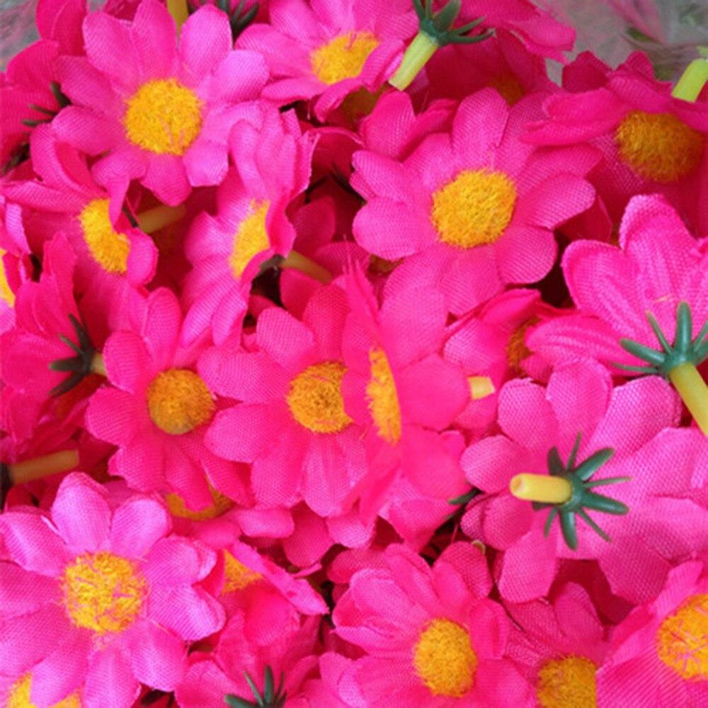 100Pcs/set Sunflower Lifelike Artificial Plastic Silk Flower Heads ...