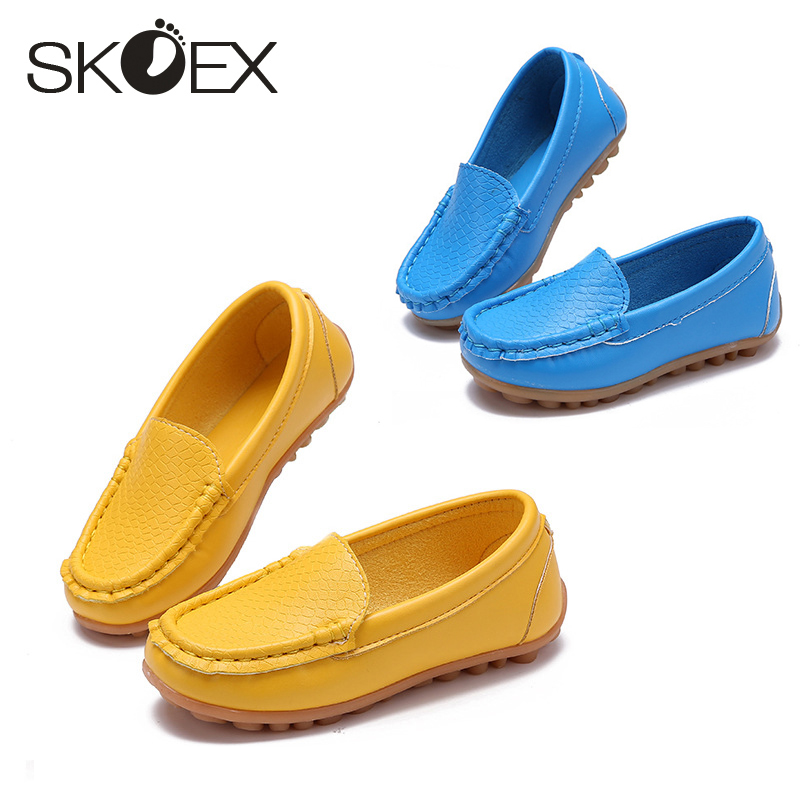 SKOEX Soft Bottom Children's Shoes Boy Girl Sneakers Leather Kids First Walkers Running Shoes Baby Mocassins Toddler