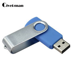 Флешка 64 г вращающийся USB флешка 4 ГБ 8 ГБ 16 ГБ 32 ГБ высокое Скорость Memory Stick Drive внешних накопителей 128 ГБ флешки